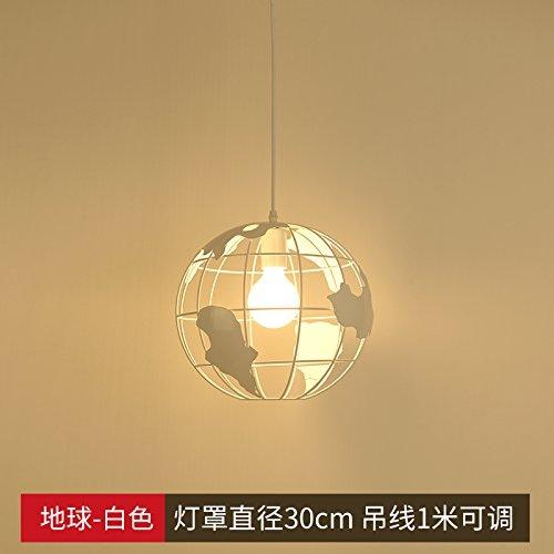 Kang @ Américains Village Rétro Industrial Vent Suspension Leuchten et la créativité de la Terre Blanc 30cm