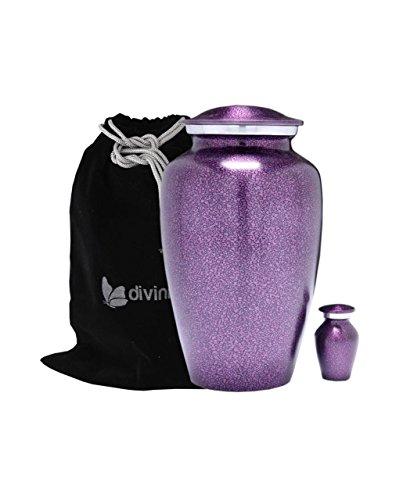 Divinityurns Purple Droplet Cremation Urn