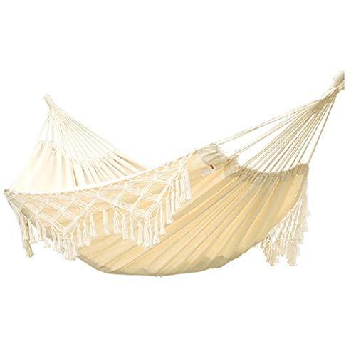 JXS-outdoor Hammock, Manila Hemp Material, Tassel Hammock, Lazy Indoor Hammock Swing,150×200cm