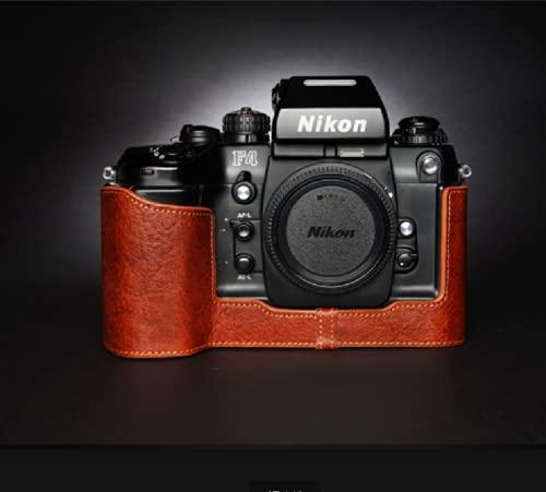 STST Estuche para cámara/Estuche de Cuero para cámara Base de Cuero Genuino Hecho a Mano para Nikon F4 F6,Lava Brown,F4