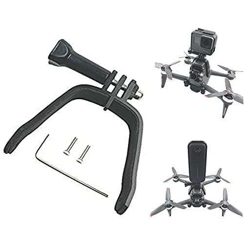 Tmom - Supporto di espansione per DJI FPV per fotocamera panoramica Action Camera Accessori per GoPro Hero 9 8, supporto drone per il collegamento della fotocamera superiore