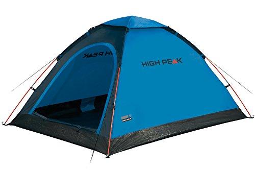 High Peak Kuppelzelt Monodome, Campingzelt für 2 Personen, Igluzelt, Festivalzelt mit Wannenboden, 1500mm wasserdicht, Freistehend, Hochentlüftung, Moskitoschutz