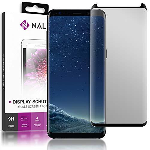 NALIA Sicht-Schutzglas kompatibel mit Samsung Galaxy S8, Anti Spy Blickschutz Glas Privacy Filter Full-Cover 9H Displayschutz-Folie, Smartphone Schutzglas Protector Volle Bildschirm Display-Abdeckung