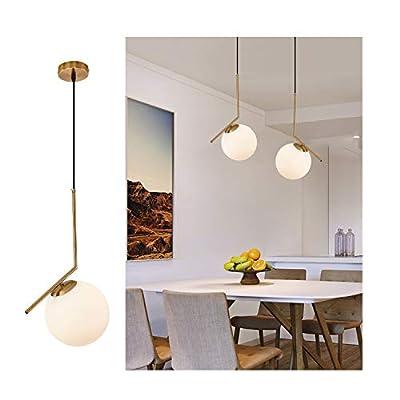 Pendant Lighting Modern Style Chandelier Lighting, Kitchen Lamp,Frosted Glass Globe Lampshade Pendant Light Indoor Hanging Light Fixture Adjustable Hanging Fixture Island Lighting