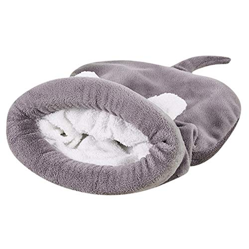 Haustier Schlafsack, 12shage Warm Hunde Haus Hundehöhle Katzenhöhle (Grau, L)