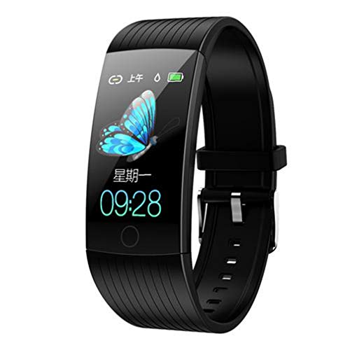 yangguifengji CWL Q18S Smartwatch Fitness Tracker Bracciale attività IP68 Sport Orologio con Contapassi Analisi del Sonno, per Donna Uomo Chiamata SMS, Nero