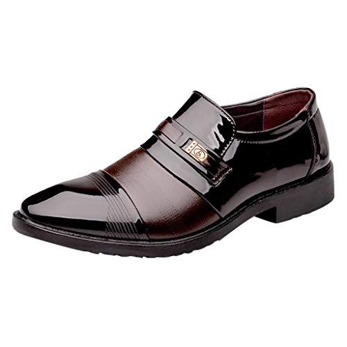 Lederschuhe Herren Atmungsaktiv Herrenschuhe Sneaker LUCKDE Mode Anzug Schuhe für MäNner Business Lederschuhe Casual Bequemes Kleid Schuh