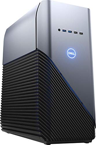 Dell Inspiron Gaming PC Desktop AMD Ryzen 7 2700 Processor, 16GB DRAM, 1TB HDD, AMD Radeon RX 580 4GB GDDR5 Graphics Card, Windows 10 64-bit, Blue LED, Model Number: i5676-A696Blu