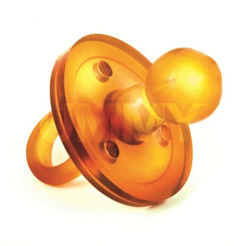 The UMMY: BPA-Free 100% Natural Rubber Pacifier with Round Nipple, 0-3 Months