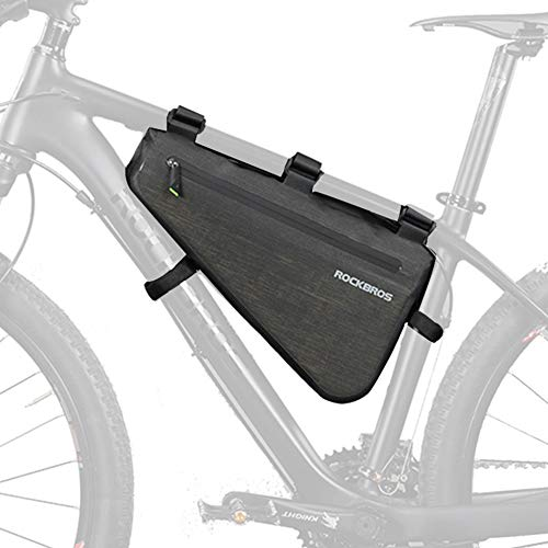 ROCKBROS(ロックブロス)フレームバッグ 防水 ロードバイク 大容量 サイクル トップチューブバッグ トライア...