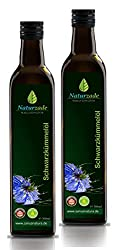 Naturzade Black Cumin Oil 1000ml Unfiltered glass bottle (2 x 500ml), cold pressed, directly from the manufacturer