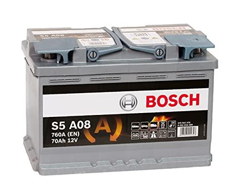Bosch S5 A08, 70Ah 12V AGM Batterie für den BMW X1 (E84) sDrive18i Benziner - für viele andere Modelle ebenfalls geeignet