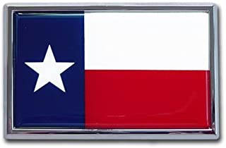 TX Texas State Flag Chrome Auto Emblem