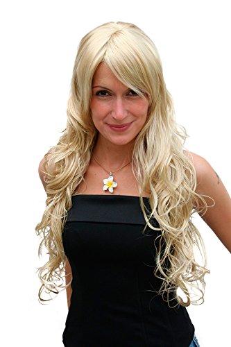 WIG ME UP ® - 9669EL-202 Lange Perücke helles blond goldblond lockiges Haar Engel ca. 70 cm