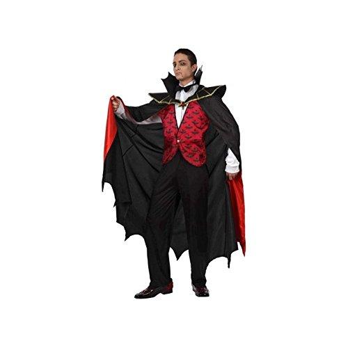 Atosa 93583 - Costume da Vampiro Adulto, Taglia: 50 - 52, Colore: Rosso
