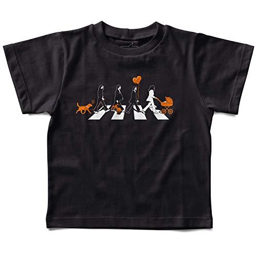 Camiseta Beatles Abbey Road Babás, Lets Rock Baby, Preto, 1 ano