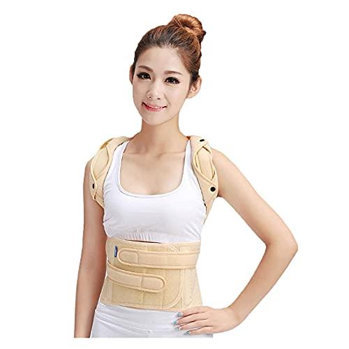 AMAFS Corrector de postura de hombro trasero ortopédico, soporte de ortesis lumbosacra espinal, soporte para cifosis de fractura espinal (color : altura inferior a 175 cm, tamaño: pequeño) fes
