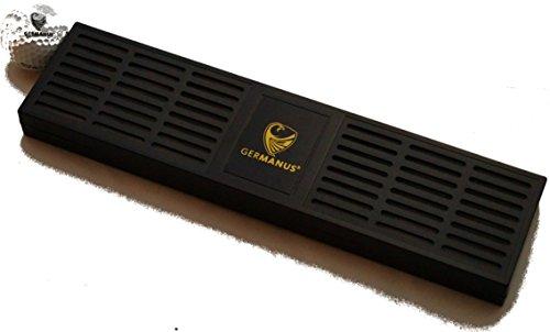 Riesiger GERMANUS Kristalle Humidor Zigarren Befeuchter XXXL mit ca. 30 cm Länge in Schwarz für ca. 100-200 Zigarren Humidor Volumen