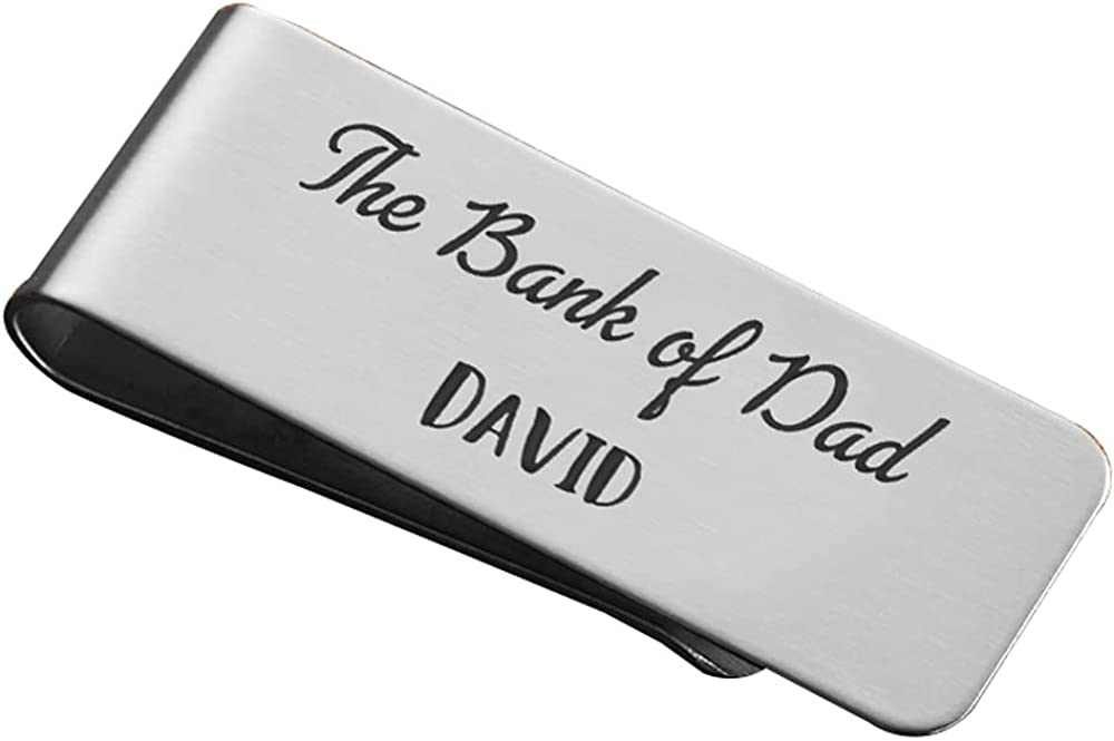 Personalized Engraved Money Clip Custom Money Clip with Name Engraved Funny Gifts for Men Father's Day