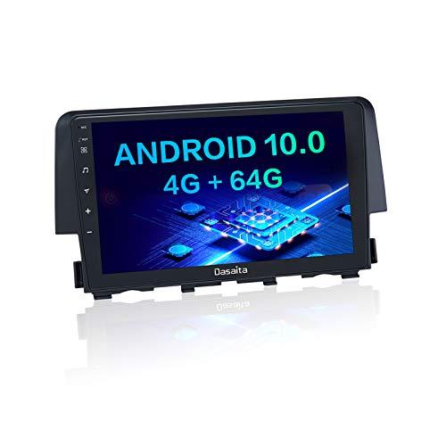 "Dasaita 9"" Inch Car Stereo Touch Screen for Honda Civic 2015 2016 2017 2018 2019 2020 2021 Bluetooth Car Radio GPS Navigation Apple Carplay Android Auto 3G / 4G Network"