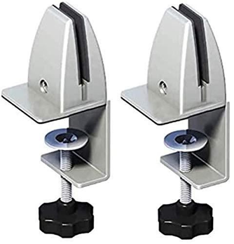 UMBRANDED Soporte de pinza para escritorio de oficina, soporte de pinza para plexiglás, abrazadera de mesa para protección contra saliva, fácil instalación versátil
