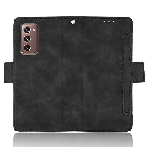 HDOMI Samsung Galaxy Z Fold 2 5G/W21 Hülle,High Grade Leder Geldbörse mit [Kartensteckplätze] Flip Schutz Hülle Cover für Samsung Galaxy Z Fold 2 5G/W21(Schwarz)
