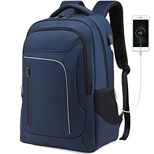 SUNDAYUEBH 2021 Neue Rucksack Herren Business Outdoor Computer Rucksack Student Schultasche Reisetasche(bao LAN Farbe)
