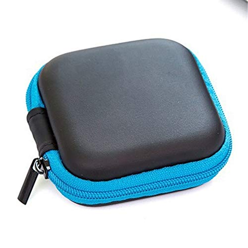QFDM Soft and Durable Storage Bag Porte-écouteurs Cas Sac de Rangement Mini Zipper Dur Casque Cas Conteneur Oreillettes Carte mémoire USB Pouch Box Organisateur Câble Easy to Travel Or Store