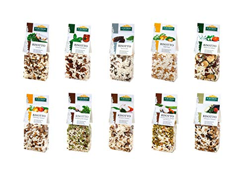 Dr. Ana Collection - Risotto Probierpaket mit Steinpilzen, Spitzmorchel, Gemüse und Pfifferlingen (10x 200g)