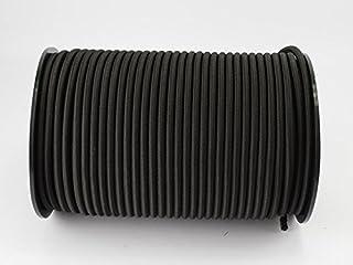 Unbekannt 6 mm expandertouw 20 m zwart rubberen touw dekzeiltouw spantouw elast. touw zeil