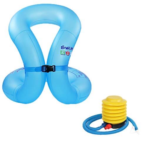 PengGengA Schwimmwesten zum Aufblasen für Kinder Erwachsene, Schwimmflügel Ausrüstung, Kleinkinder Schwimmtrainer Schwimmenlernen Schwimmhilfe (Blaue Teenager, 6-16 Jahre)