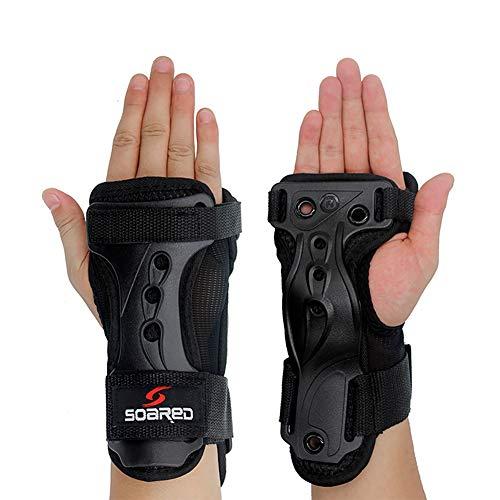 GES Handpads Handgelenkschützer Schutzausrüstung Skating Handschuhe Extended Wrist Palms Schutz Rollschuhlaufen Harte Stulpen für Snowboard Skating Skateboard Roller Skating Roller (M)
