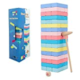 Wooden Balance Stacking Game Blocks Set Table Games 3D Toys Suitable for Children Over 3 Years Old