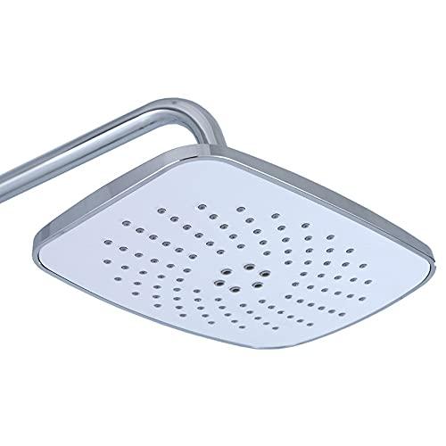 ALYHYB Cabezal de ducha de lluvia de 10 pulgadas, cabezal de ducha de alta presión, antiobstrucción, antifugas, lluvia, ABS, con rótula giratoria ajustable y boquillas de autolimpieza