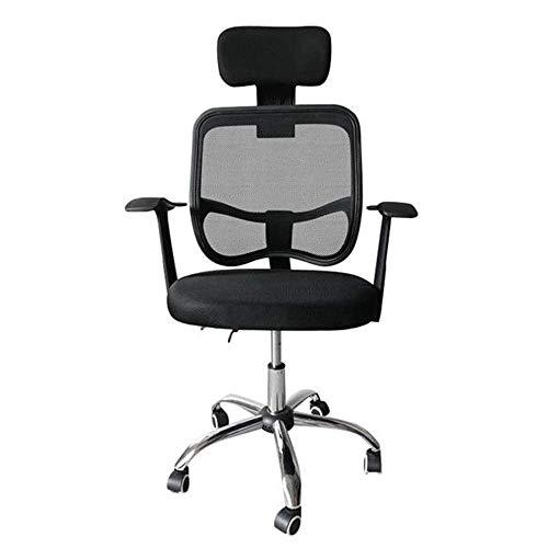 Ygqbgy Executive Office Chair - Bürostuhl mit hoher Rückenlehne, Fußstütze und Dicker Polsterung - Liegender Computerstuhl mit ergonomischer segmentierter Rückenlehne, schwarz