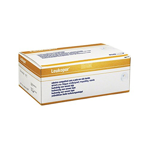 Leukopor Allergie Pack 12 rollen wondpleister Rudafleece hypoallergeen geel 9,2 m x 2,5 cm