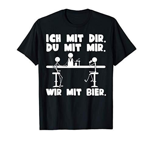 Wir mit Bier | Pils Bier Hopfen Party Liebhaber Beer Bier T-Shirt
