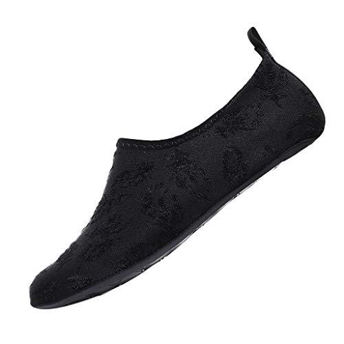 AIni Herren Schuhe,Sale Mode Beiläufiges 2019 Neuer Heißer Paar Normallack Strandschuhe, die die Tauchen Socken Treiben Fluss Watschuhe Schwimmen Partyschuhe Freizeitschuhe(44-45,Schwarz)