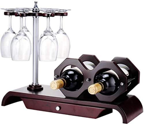 TUHFG Estantería de Vino Estanterías de Vino Madera Europeo Vino Copa de Vino Soporte Independiente Titular de vinos de Mesa para Barras de Vino Bodega gabinete de sótano Cocina de despensa