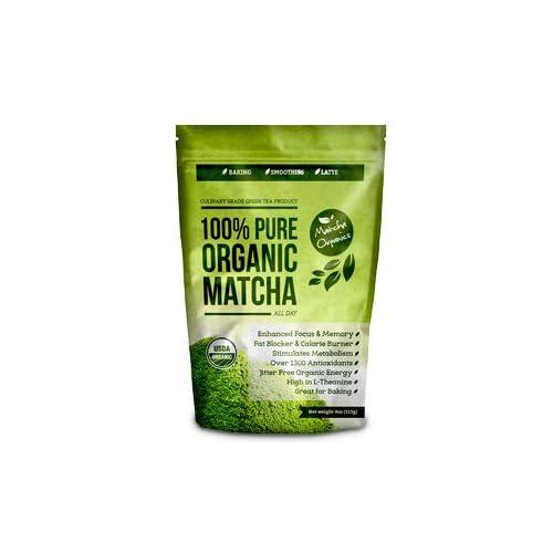 Té verde Matcha orgánico en polvo aprobado por USDA - Suplemento natural para la pérdida de