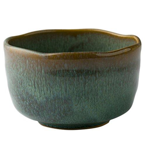 CIGONG Keramikschale Pfau Korn unregelmäßigen Obstsalat Gericht Nudeln Reis Tablett Essensgeschirr 12x7,5 cm Schüssel