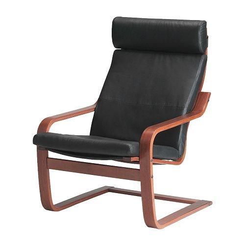 Amazon Com Ikea Poang Armchair Medium Brown With Robust Black