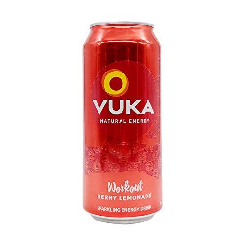 Vuka, Energy Drink Workout Berry Lemonade, 16 Fl Oz