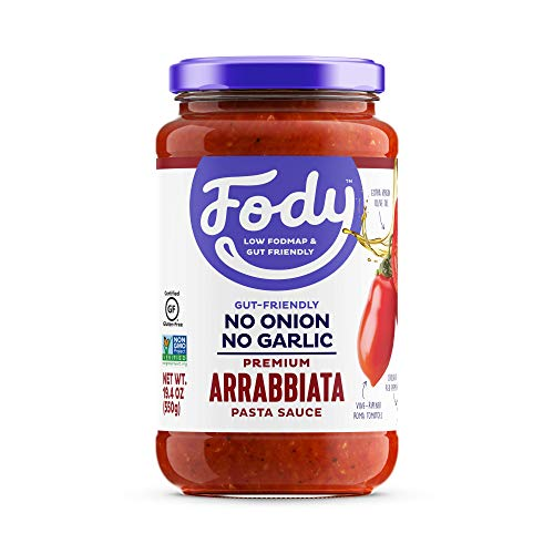 Fody Foods Vegan Pasta Sauce | Arrabbiata Sauce | Low FODMAP Certified | Gut Friendly No Onion No Garlic | IBS Friendly Kitchen Staple | Gluten Free Lactose Free Non GMO
