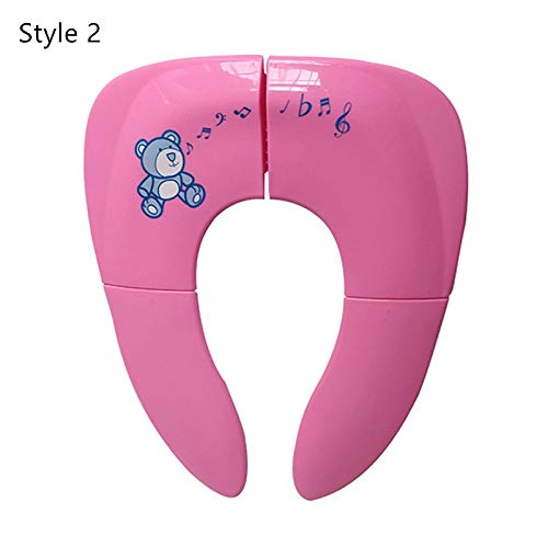 Beste kwaliteit - Potties - draagbaar Kids Travel potty Seat Pad baby Folding Toilet Training Seat Cover Toddler urine assistant kussens Children Pot Seater - by Stephanie - 1 PC style 2-rosy bear