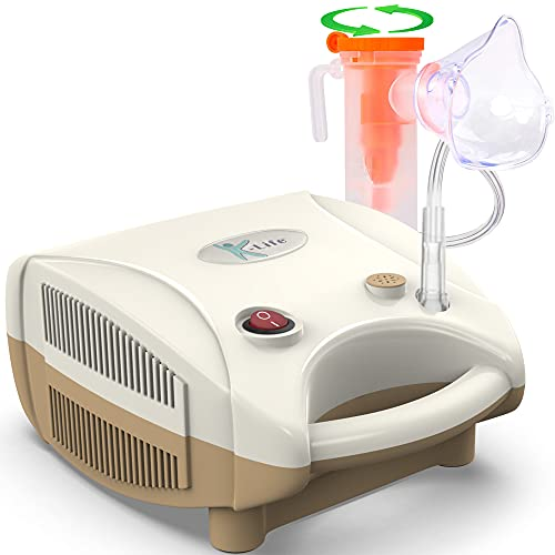 K-Life Neb-101 Compressor Nebulizer Machine Kit with Child and Adult Masks (Brown) (1 YEAR WARRANTY)