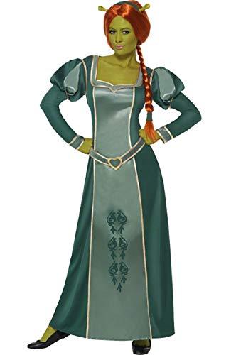 Ladies Shrek Fiona Disney Princess Long Full Length Fancy Dress Costume Outfit (UK 16-18) Green