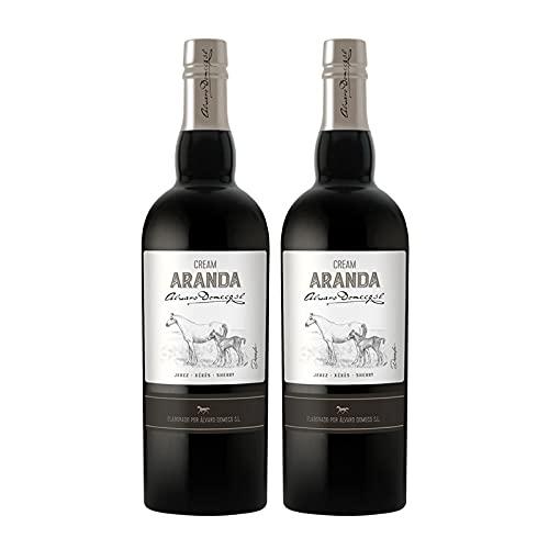Vino dulce Cream Aranda de 75 cl - D.O. Jerez-Sherry - Bodegas Alvaro Domecq (Pack de 2 botellas)