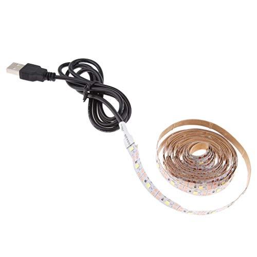 W-SHTAO L-WSWS Controladores RGB LED tira de luces, tira de luz LED blanca, tira de luces LED, luz nocturna LED, luces de cuerda LED, barra de luz de cinta LED de 2 metros/6.6 pies