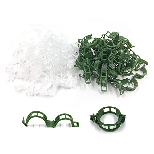 100 PCS Plastic Plat Support Garden Clips, Tomato Vine Clips, Fixed Vegetables Trellis Clips, Make Plant Grow Upright and Healthier, A Good Helper for Gardening (100PCS)